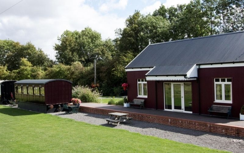 Quirky places to stay in Suffolk Brockford Railway Siding.