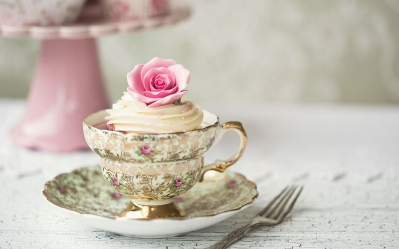 decorative tea cup for afternoon tea.