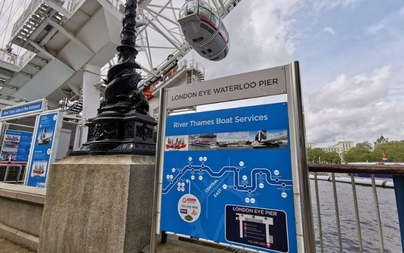 London Eye Waterloo Pier.