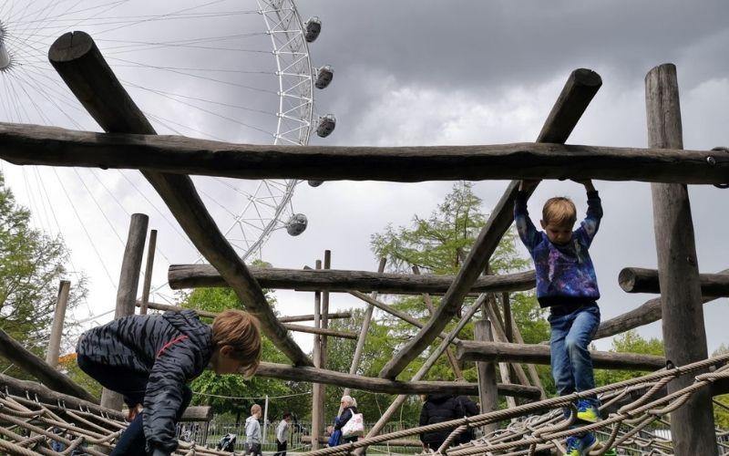 Playground by the London Eye.