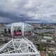 Viewing London's skyline from the top of the London Eye.