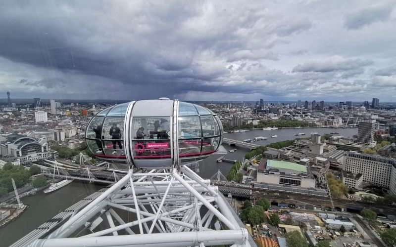 Is the London Eye worth it? Viewing London's skyline from the top of the London Eye.