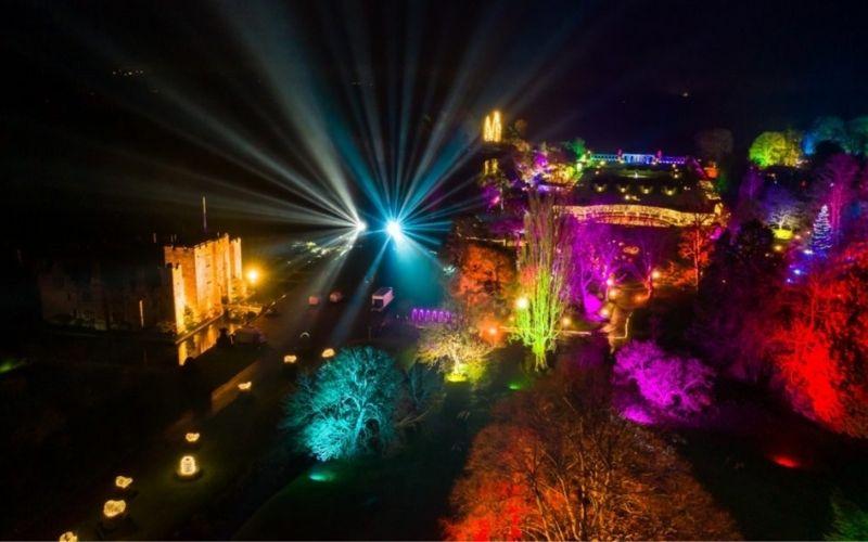 Christmas Light Trail at Hever Castle.