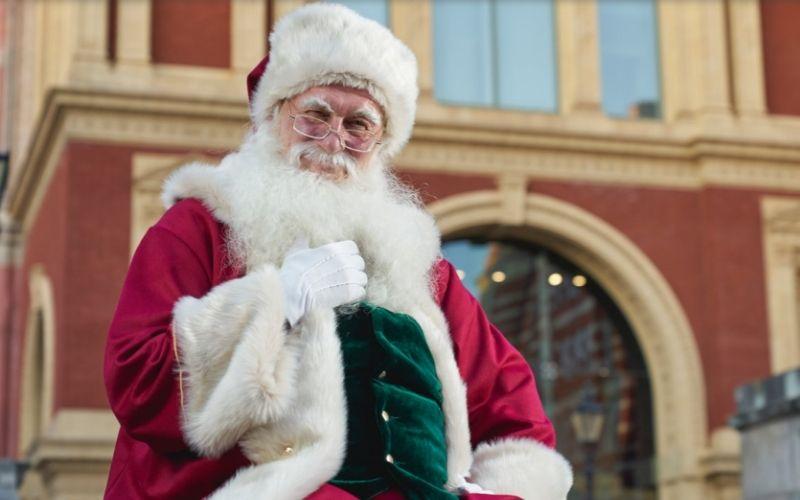 Father Christmas at the Royal Albert Hall.